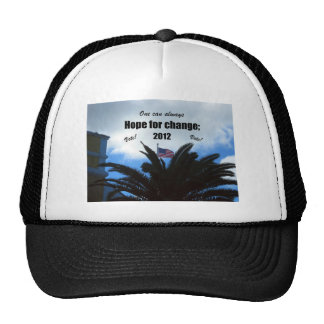 One can always hope for change: 2012 trucker hat