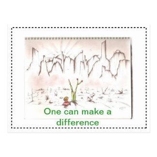 One can make a difference postcard