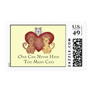 One Can Never Have Too Many Cats Postage Stamp