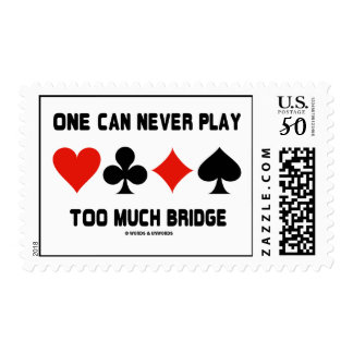 One Can Never Play Too Much Bridge (Card Suits) Postage