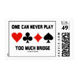 One Can Never Play Too Much Bridge (Card Suits) Stamp