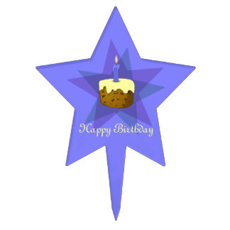 One Candle Happy Birthday Cake Cake Topper