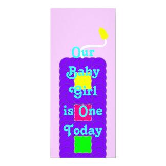 One Candle Invutation Card