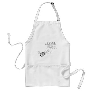 One cannot buy luck adult apron