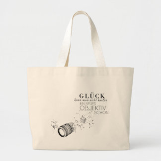 One cannot buy luck large tote bag