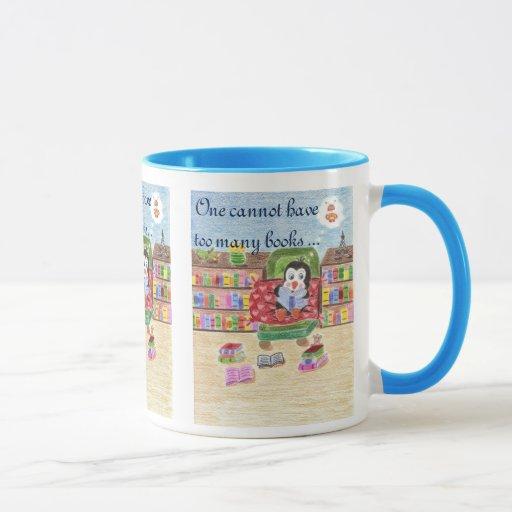 Penguin Book Cover Coffee Mugs : One cannot have too many books smart penguin mug zazzle