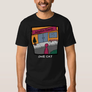 One Cat Adoption Event Comic Tee