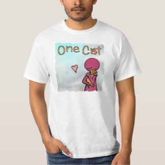 One Cat Cover Scribble T-Shirt