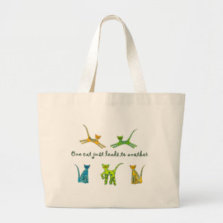 One Cat Just Leads to Another Jumbo Tote Bag
