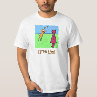 One Cat Loves Butterflies Picture Book T-Shirt