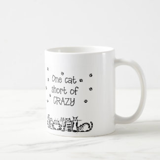 One Cat Short of Crazy Gifts Coffee Mug