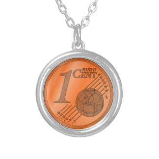 One Cent Euro Coin Custom Jewelry
