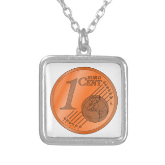 One Cent Euro Coin Pendant