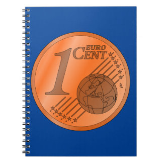 One Cent Euro Coin Spiral Notebook