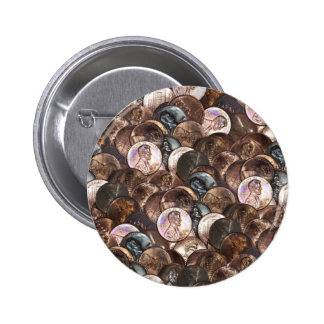 One Cent Penny Spread Background Pins