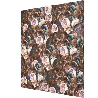 One Cent Penny Spread Background Canvas Print