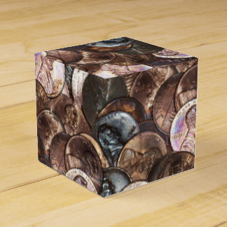 One Cent Penny Spread Background Favor Box