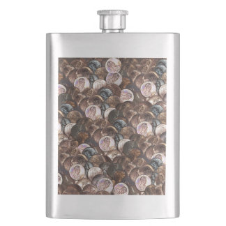 One Cent Penny Spread Background Flasks