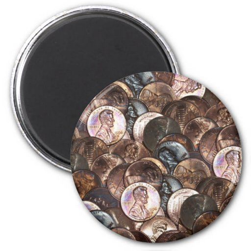 One Cent Penny Spread Background Fridge Magnets