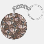 One Cent Penny Spread Background Double-Sided Round Acrylic Keychain