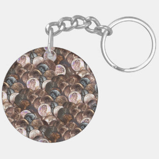 One Cent Penny Spread Background Keychain