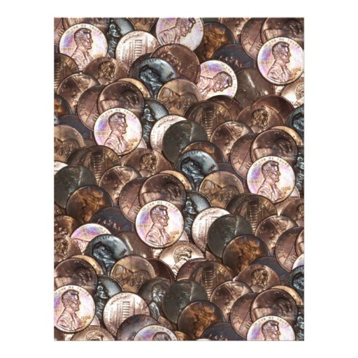 One Cent Penny Spread Background Letterhead