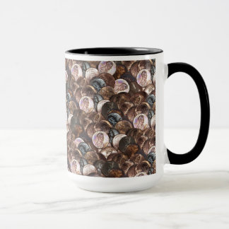One Cent Penny Spread Background Mug