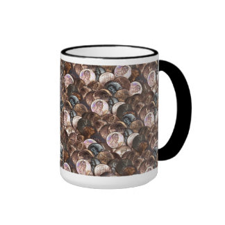 One Cent Penny Spread Background Ringer Coffee Mug