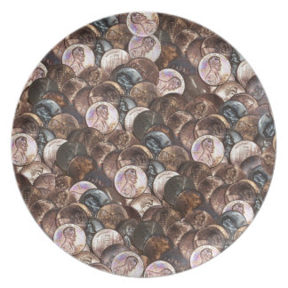 One Cent Penny Spread Background Plate