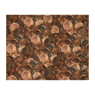 One Cent Penny Spread Background Photo Cork Paper