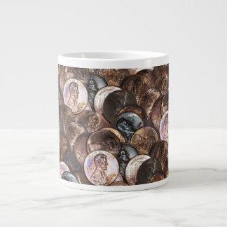 One Cent Penny Spread Background Jumbo Mug