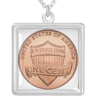 One Cent Silver Plated Necklace