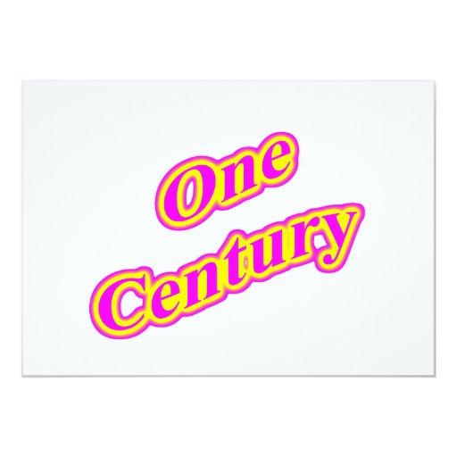 One Century Magenta Personalized Invitation