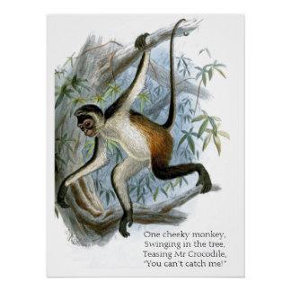 One Cheeky Monkey CC0365 Children's Poster