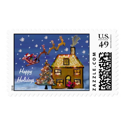 One Christmas Night Holiday Postage Stamps