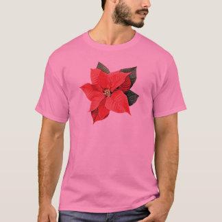 One Christmas Poinsettia Mens T-Shirt
