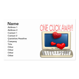 One Click Away Double-Sided Standard Business Cards (Pack Of 100)