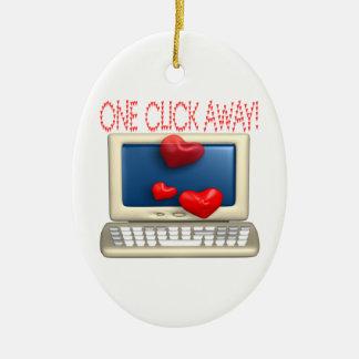 One Click Away Ceramic Ornament