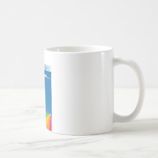 One cloud over the beach coffee mug