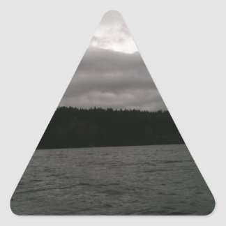 One Cloudy Day Triangle Sticker
