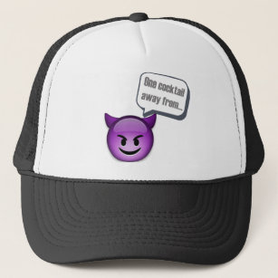 13a6b987d4ea4 One cocktail away from naughty - Emoji Trucker Hat