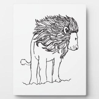ONE COLOR LION DISPLAY PLAQUE