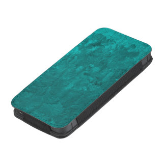 one color painting,aqua iPhone 5 pouch