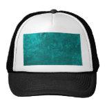 one color painting, aqua trucker hat