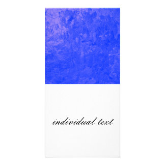 one color painting,blue picture card