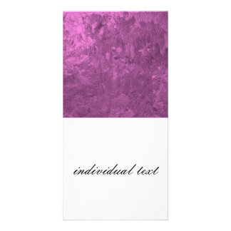 one color painting,pink personalized photo card