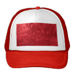 one color painting,red mesh hat