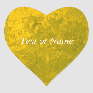 one color painting,yellow heart sticker