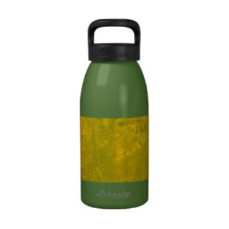 one color painting yellow reusable water bottle