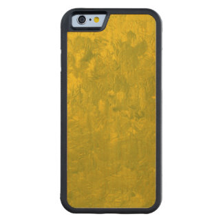 one color painting,yellow carved® maple iPhone 6 bumper case